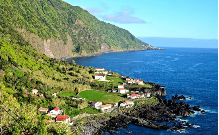 At São Jorge's you can enjoy the amazing view over all the other islands