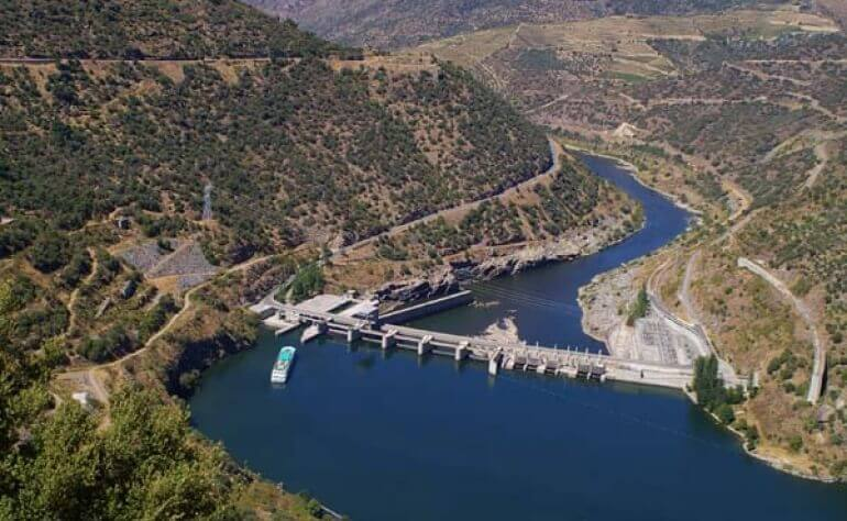 Valeira Dam, built between 1971 and 1976