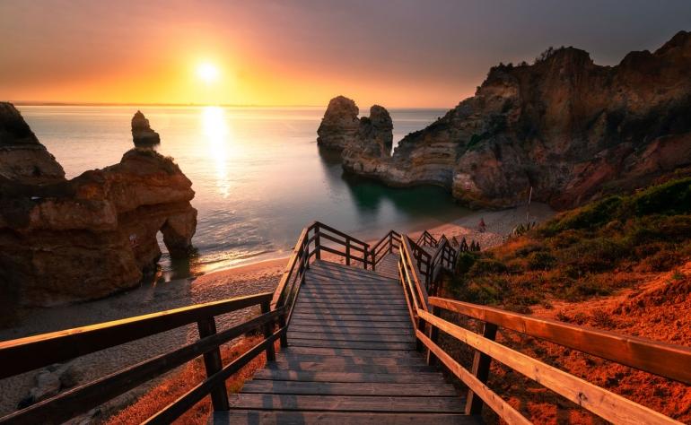 Ponta da Piedade beach was considered the most wonderful beach in the world