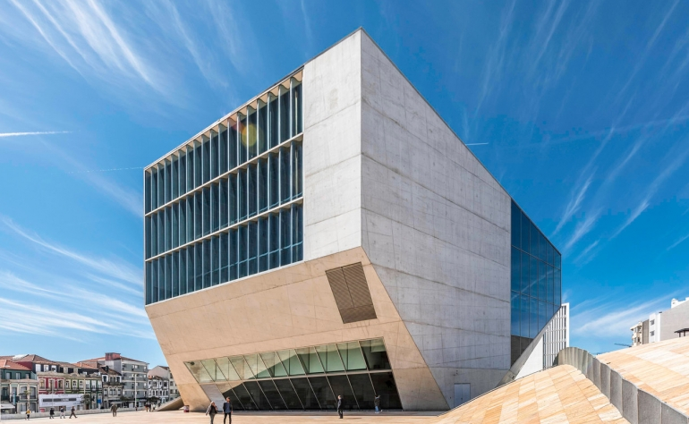 """The Contemporary Art. The building of Rem Koolhaas """"House of Music"""""""