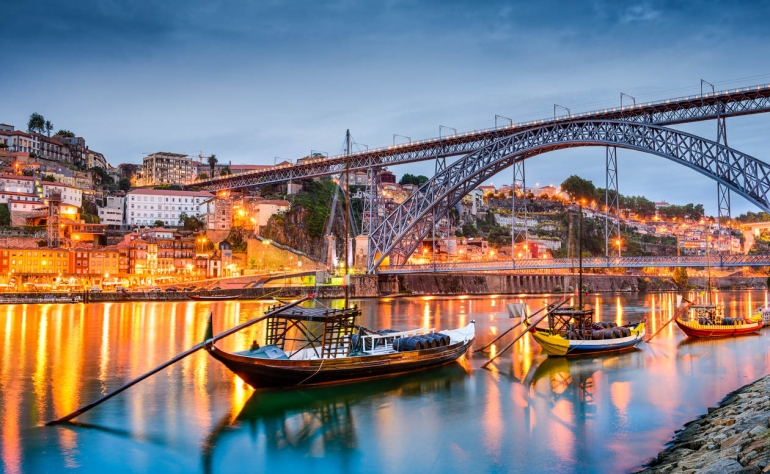 The Douro River with its traditional Rabelo Boats