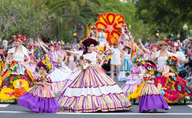 La Fiesta de las Flores es uno de los eventos más bellos de esta isla