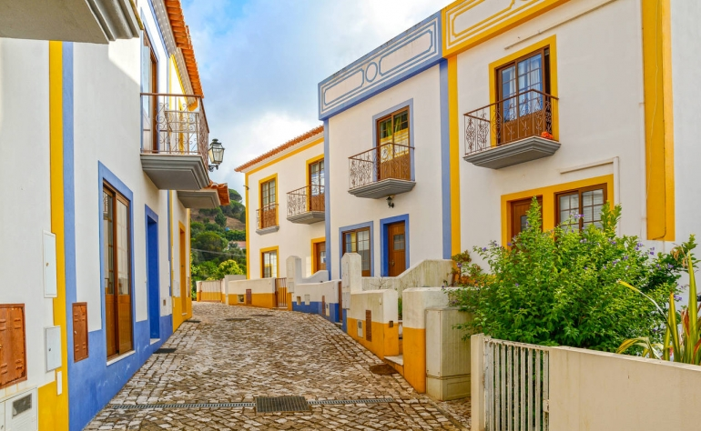 This are the beautiful  typical houses from Aljezur