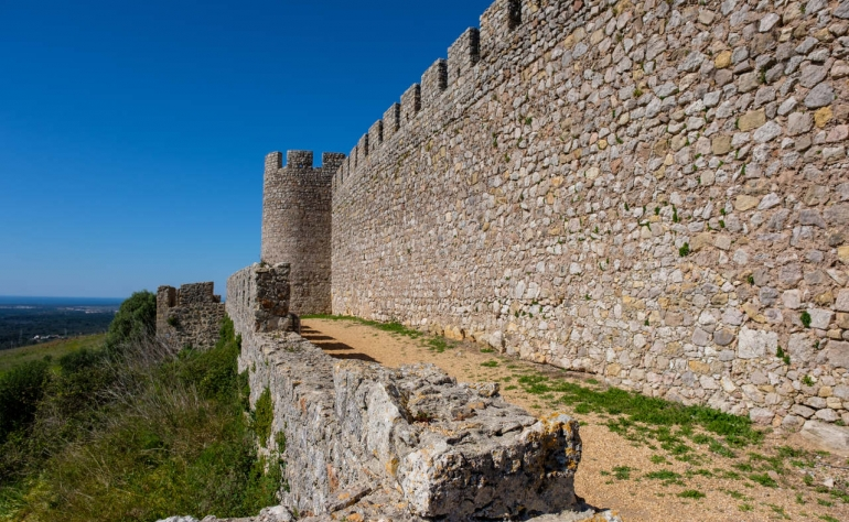 Santiago do Cacém Castle is one of the sites form the Rota Vicentina hiking trail